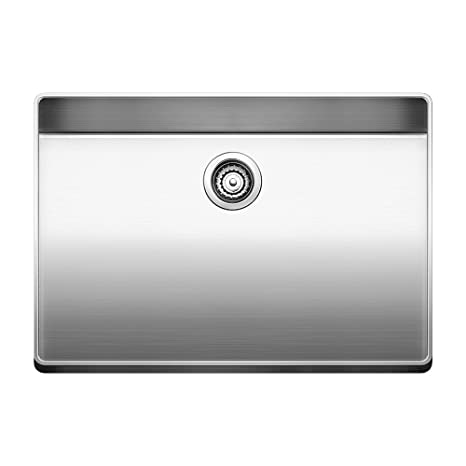 Blanco 519594 Attika 26-Inch Elevated Rim Single Bowl Kitchen Sink, Large, Stainless Steel