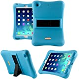 Anitoon Amplifier Speaker Case Cover For iPad Mini 3, iPad Mini Retina Display and iPad Mini BLUE With Armor Body and Stand