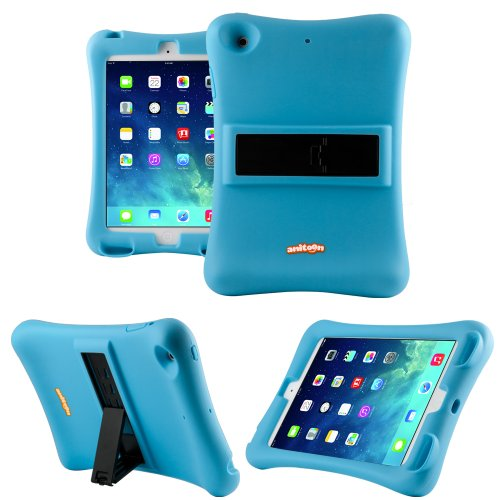 Anitoon Amplifier Speaker Case Cover For Ipad Mini & Ipad Mini With Retina Display Blue With Armor Body And Stand