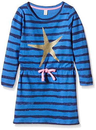 Esprit International Mädchen Kleid Star Dress, Gr. 104 (Herstellergröße: 104/110), Blau (BRIGHT BLUE 410)