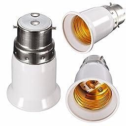(5128-u) LED CONVERTER LIGHT BULB LAMP ADAPTER B22 TO E27 BASE (USA)