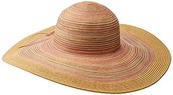 San Diego Hat Women's Mixed Braid Large Brim Floppy, Rust, One Size
