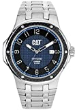Cat Navigo Carbon Date Men's Quartz Watch with Blue Dial Analogue Display and Silver Stainless Steel Bracelet A5.141.11.616