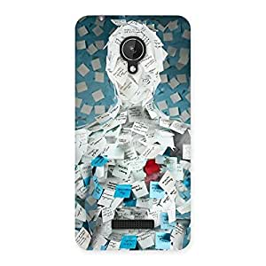 Enticing Office Paper Back Case Cover for Micromax Canvas Spark Q380