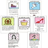 Birthday Cards pack. 7 Interesting thoughts of Edward Monkton Cards. New colour greeting cardsby Really Good