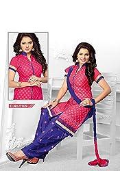 Venisa Cambric Cotton Pink Color Salwar Suit Dress Material