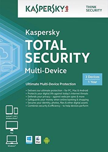 Kaspersky Lab KL1919UXCFS - KASPERSKY TOTAL SECURITY MULTI DEVICE 3 DEVICE 1 YR DVD