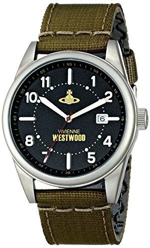 Vivienne Westwood VV079BKGR - Reloj analógico de cuarzo para hombre, correa de nailon color verde