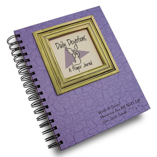 Daily Devotions, A Prayer Journal - Lilac Hard Cover (prompts on every page, recycled paper, read more...)