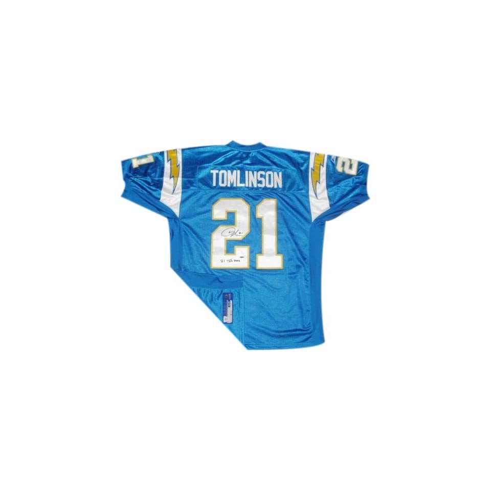 LaDainian Tomlinson San Diego Chargers Autographed Authentic Powder Blue Reebok Jersey with 31TD 2006 Inscription