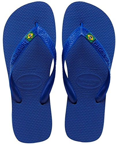 Havaianas Brasil Logo, Infradito, Unisex-adulto, Blu (Marine Blue), 41/42 EU (39/40 BR)