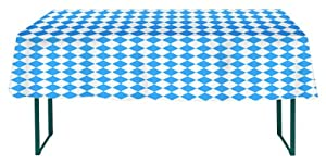 Oktoberfest Bavarian Check Table Cover, 54 x 108 Inches from Oktoberfest Haus