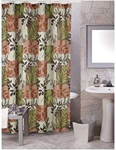 carnation shower curtain fabric laura brown