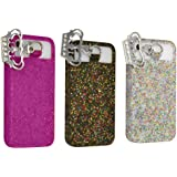 Set of 3 Juicy Couture Glitter Phone Iphone 4 4s Cover Case Sleeve New in Box
