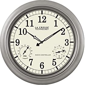 "La Crosse Technology WT-3181PL 18"" Atomic Outdoor Clock"