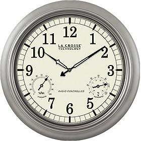 "La Crosse Technology WT-3181PL 18"" Atomic Outdoor Clock"