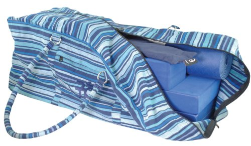 Yoga-Mad Kit Bag Stripey – Blue
