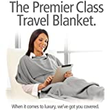 Travelrest - 4-in-1 Premier Class Travel Blanket with Pocket - Covers Shoulders -Soft and Luxurious