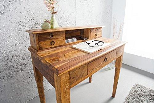 DuNord–Scrittoio Console Key West 90cm Palissandro in legno massello Sheesham Natura scrivania