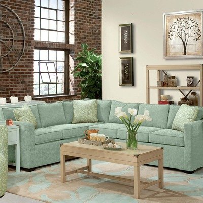 Lenny Two Piece Sectional Sofa 2 in Seafoam