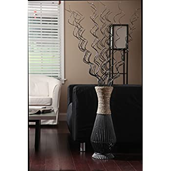 Bamboo Wood Tall floor Vase