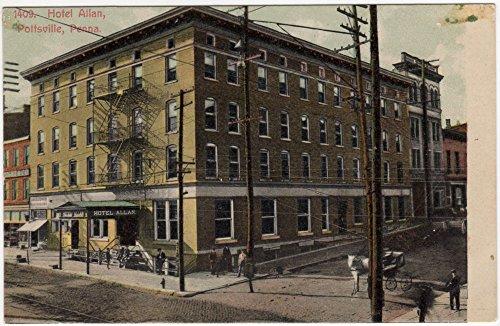 Postcard Hotel Allan in Pottsville, Pennsylvania~95284