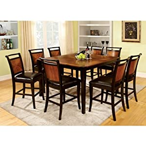 finish counter height 9 piece dining table set furniture decor