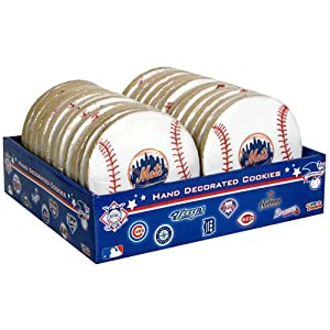 Color-A-Cookie Major League Baseball, Mets, 24-Count Package