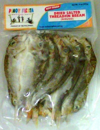 Dried Salted Fish Threadfin Bream (Bisugo) Butterflycut 3 Pack (3 X 8 Oz.)