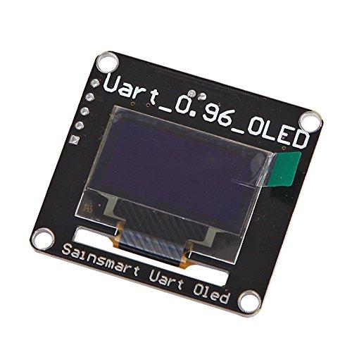 "Sainsmart 0.96"" Ttl Uart 128X64 Oled Lcd Display For Arduino Uno R3 Raspberry Pi (White)"
