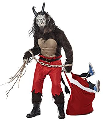 2015 New California Costumes Adult Karmpus the Christmas Demon Who Punishes Naughty Kid, Halloween Costume