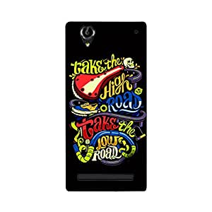 Digi Fashion Designer Back Cover with direct 3D sublimation printing for Sony Xperia T2