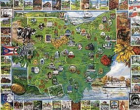 Cheap Fun White Mountain Puzzles Best of Ohio (B000BXKTT8)
