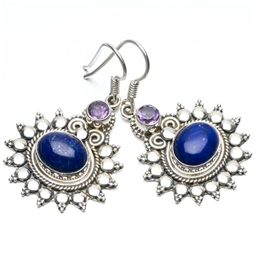 stargems-tm-lapis-lazuli-et-amethyste-naturelle-unique-style-punk-boucles-doreilles-en-argent-sterli