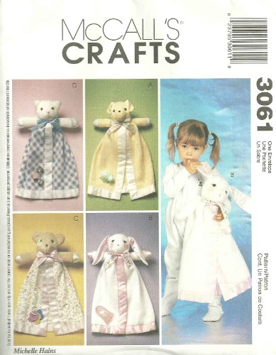 Mccall'S 3061 - Blanket Buddies - Patterns For 4 Animal Characters front-1063683
