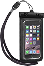 Waterproof Case, TETHYS Universal Waterproof Bag [Ultrapouch] for Apple iPhone 6S , iPhone 6 5S 5C 5 4S, Samsung Galaxy S6, S6 Edge S5 S4 S3 [Black] Protective Life pouch cover with Touch Responsive Clear Screen Protector Fit Up to 5.3 inch Diagonal