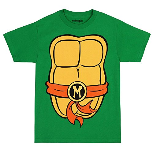 Teenage Mutant Ninja Turtles Adult Costume T-Shirt - Mike Orange (Large) (Ninja Turtle Costume For Adults compare prices)