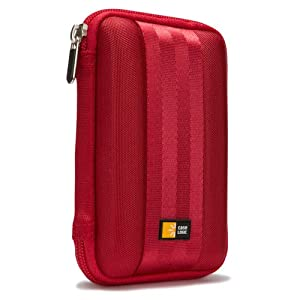 Case Logic EVA Foam Case for 2.5 inch Portable Hard Drives - Red