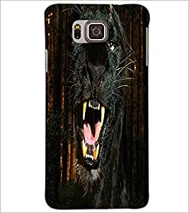 PrintDhaba Jaguar D-4356 Back Case Cover for SAMSUNG GALAXY ALPHA (Multi-Coloured)
