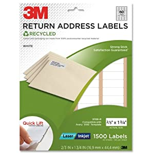 Amazoncom 3m permanent adhesive recycled return address for 3m return address labels