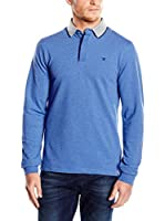 Hackett London Polo Marl Detail Pl (Azul)