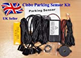 Silver Parking Reversing Sensors 4 Sensor Kit Audio Buzzer