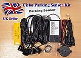 Parking Reversing Sensor Kit with 4 Sensors and Audio Buzzer in Black