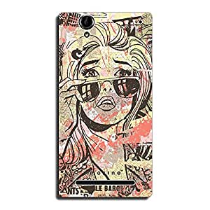 Mozine In Tears printed mobile back cover for Sony xperia t2