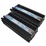 AUDEW カーインバーター パワー 正弦波コンバーター DC12V/24V 1200W 逆変換装置 12V-220V