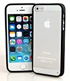 Connect Zone® BLACK CLEAR HARD BACK SILICON TPU BUMPER COVER CASE FOR iPHONE 5/5S/5G + FREE SCREEN PROTECTOR & POLISHING CLOTH