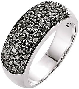 Spirit - New York Damen-Ring Silber rhodiniert Zirkonia schwarz Gr.56 (17.8) 93003093560