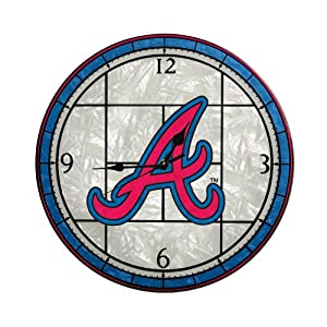 MLB Atlanta Braves 12-Inch Art Glass Clock by The Memory Company
