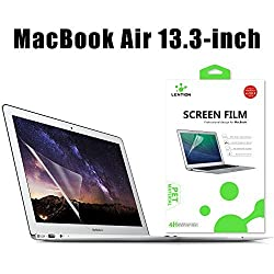 LENTIONÃ'® Clear Screen Protector for MacBook Air 13-inch Anti-scratch Hydrophobic Oleophobic Crystal HD Protective Film