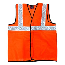 Safe Dot Reflector / Safety Jackets (Plain Orange) - Regular Pattern